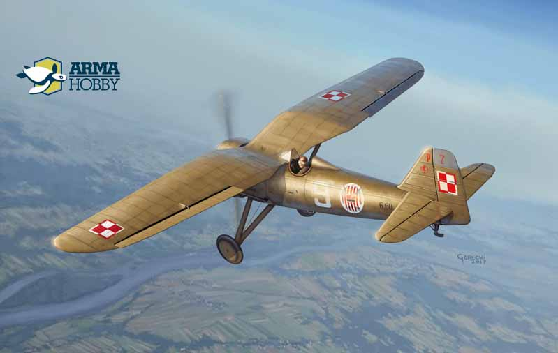 Official  PZL P.7a model kit 1/72 scale announced