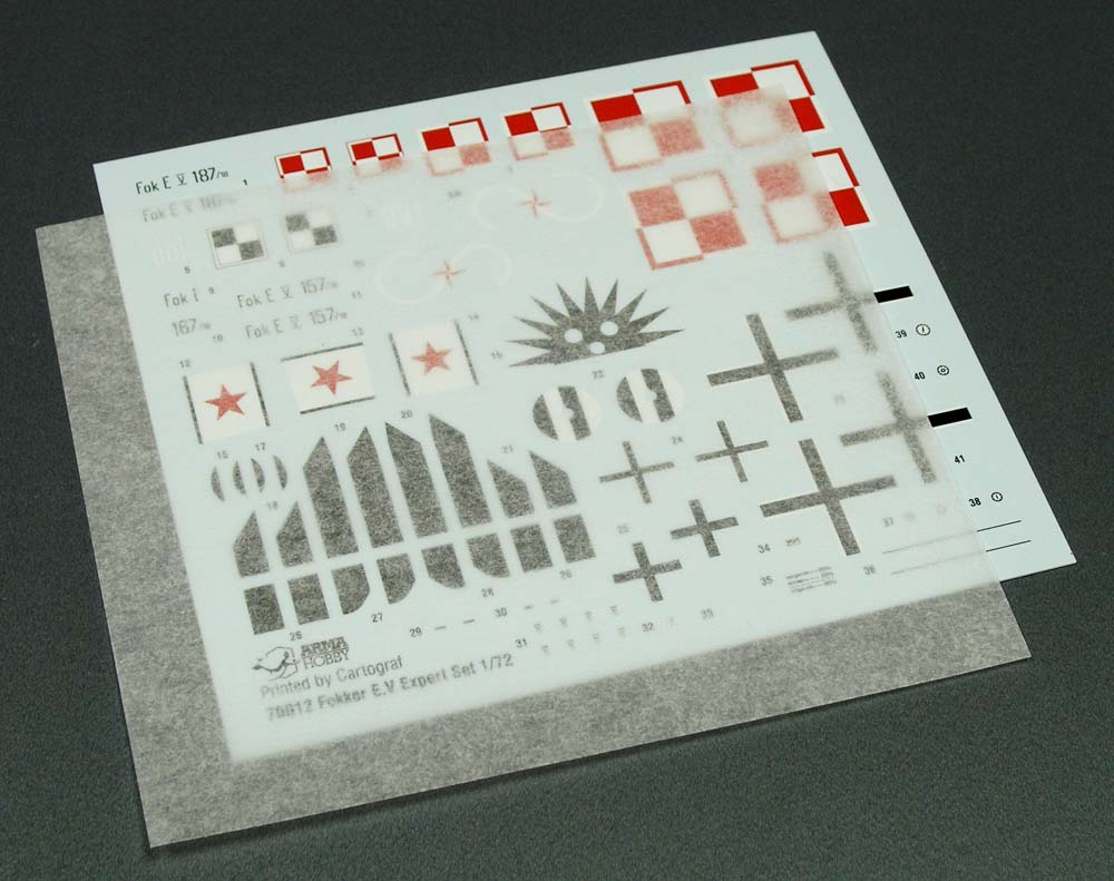 Fokker E.V 1/72 Scale Model Kit Decals