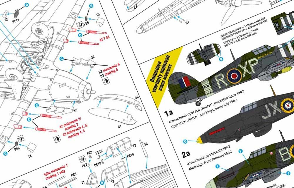 Hurricane Mk II b/c Expert Set – Kit's Instruction