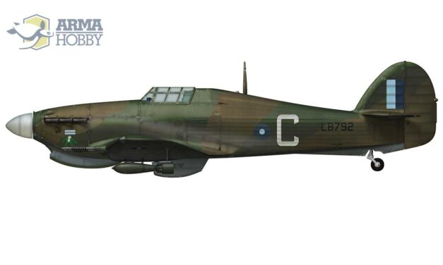 """""""Flip the Frog"""", a Hurricane Mk.IIc from No. 34 Squadron"""