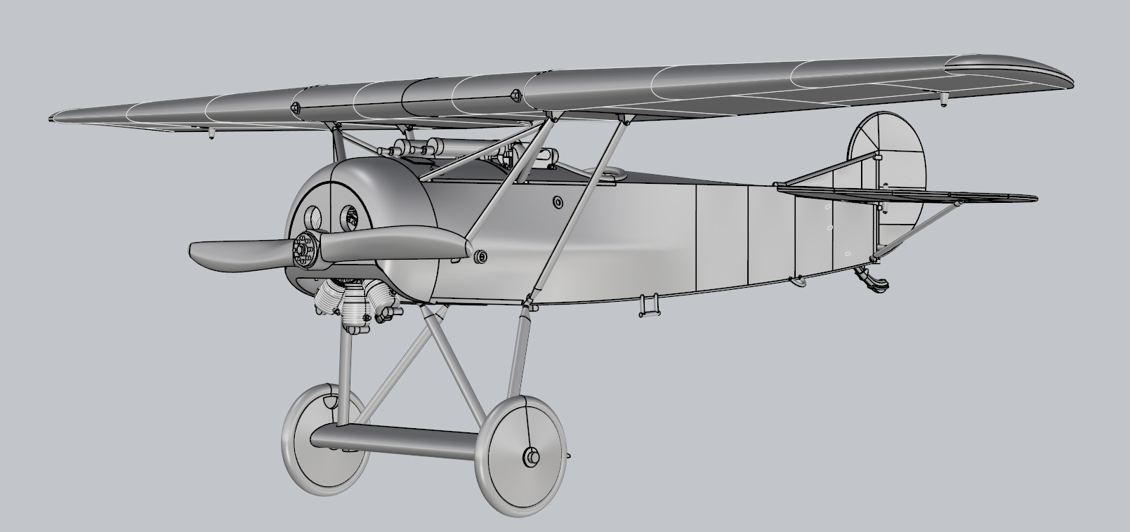 Fokker E.V Model kit Renders