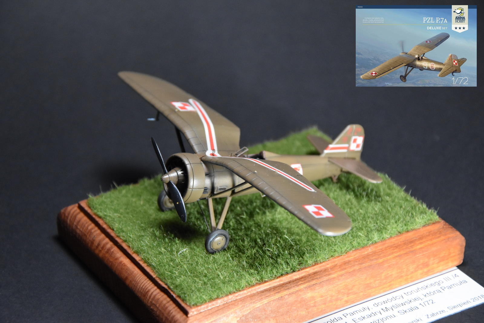 PZL P.7a piloted by Leopold Pamuła – model galery