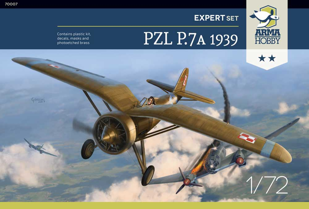 PZL P.7a Expert Set 1939 – model kit inbox
