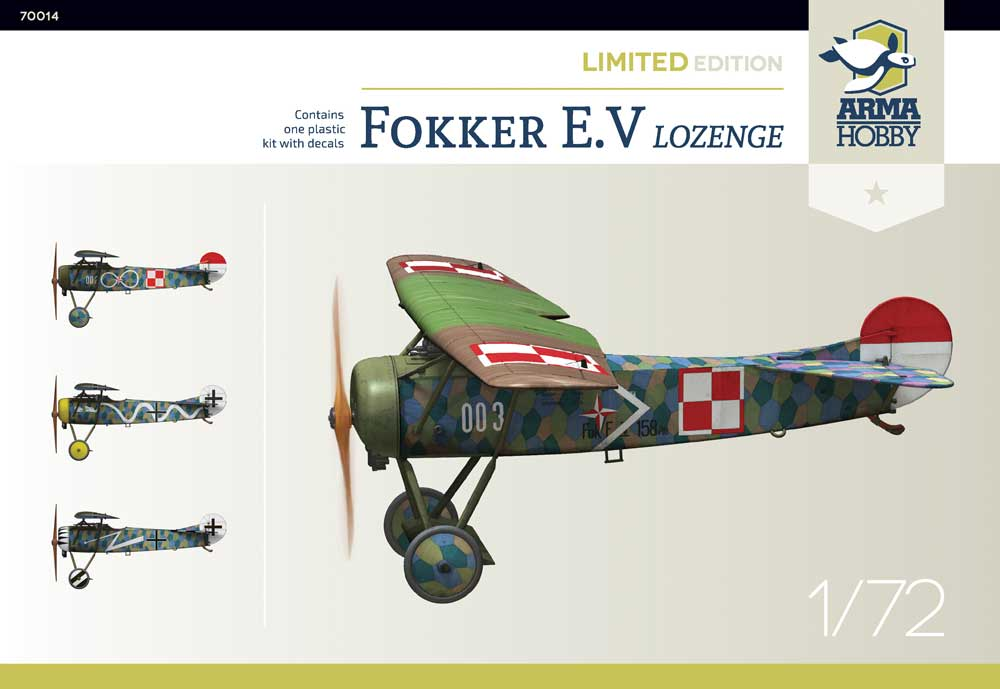 New Fokker E.V model kit – Limited Edition