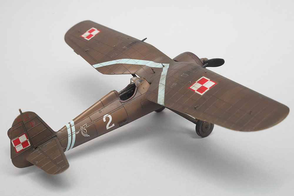 "PZL P.11c Junior Set – built ""out of the box"""