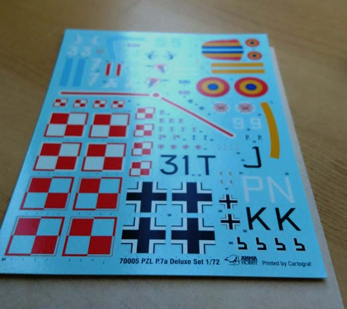 PZL P.7a decals 1/72