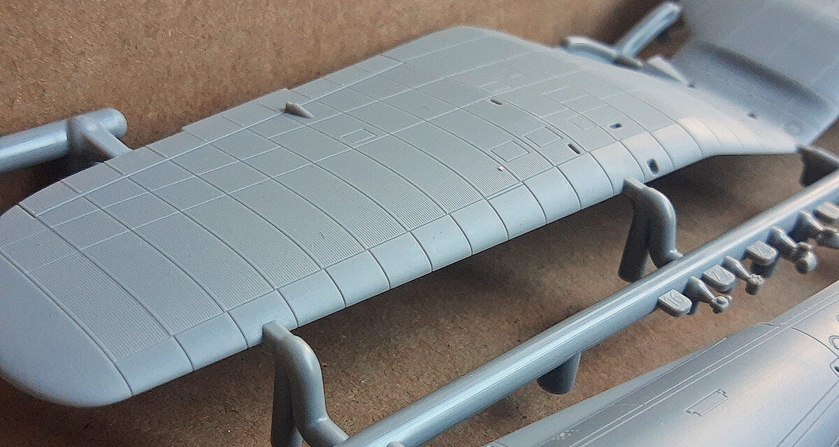 How to cut and glue the wings in the P.11c in 1/48 scale
