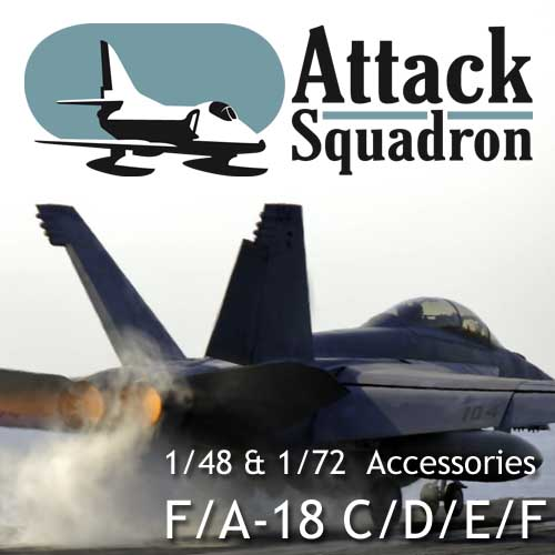 F/A-18 E/F 1/72 scale resin accessories