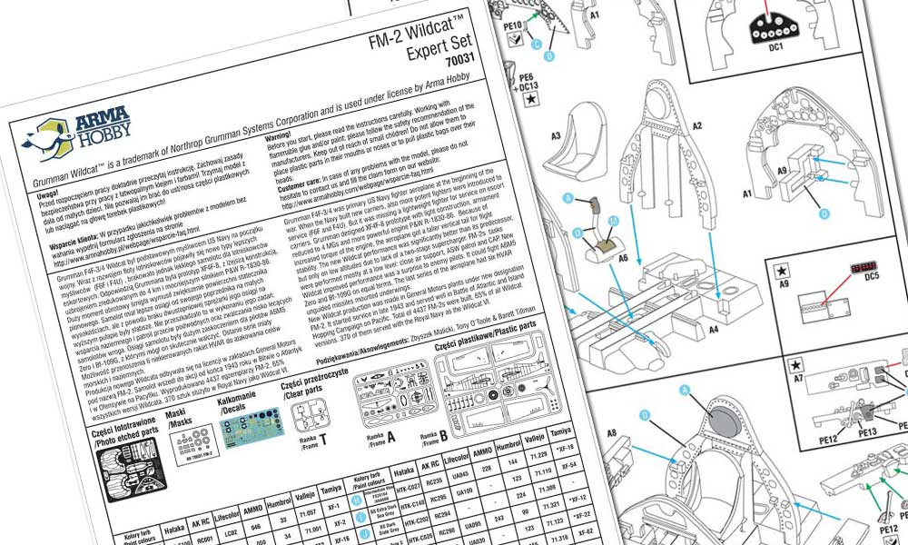 Assembly instruction of the FM-2 Wildcat™ Expert Set