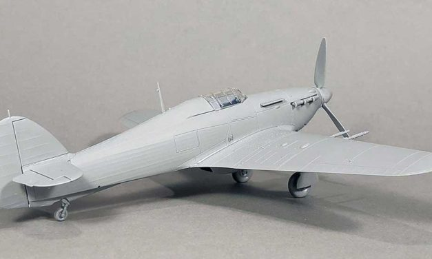 Hurricane IIc – model built from test shots
