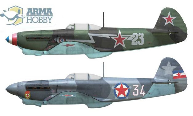 Yak-1b in the Allied air forces – camouflage and markings