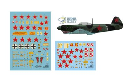Yak-1b  – decals and markings options from kits
