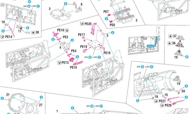 P.11c w 1/48: cockpit assembly – step by step