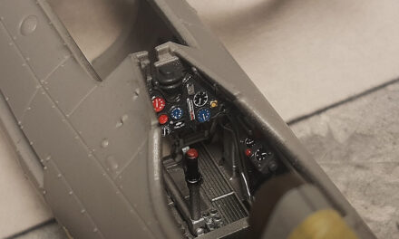 Controls panel in the P.11c model step-by-step