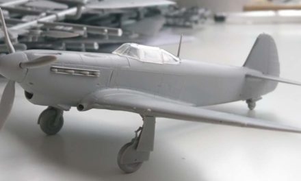 Yak-1b model test shots