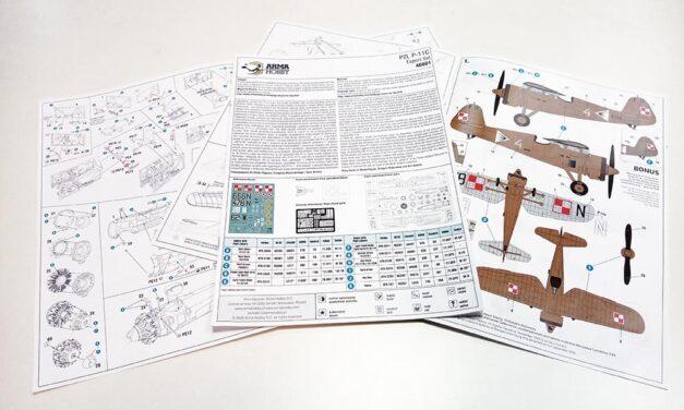 PZL P.11c Expert Set 1/48 scale – Instruction