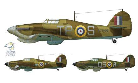 Trzy tropikalne Hurricane Mk I