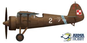 """PZL P.11c 8.63, """"2"""" 121 Eskadra Myśliwska, por Waclaw Król"""