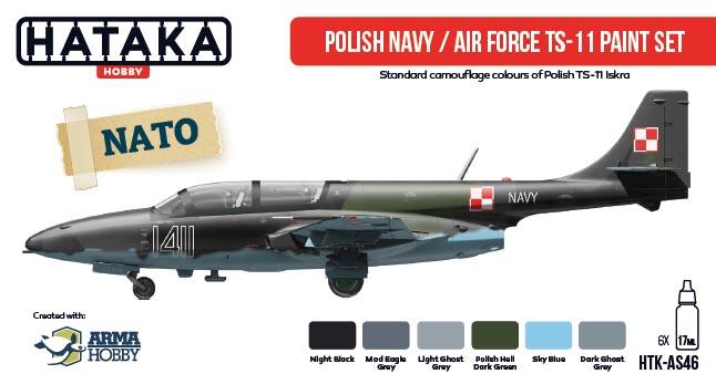 TS-11 Iskra color set from  Hataka Hobby