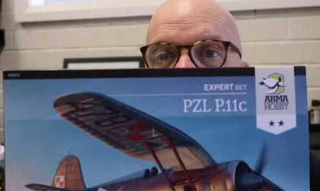 1/48 scale PZL P.11c inboxing video by Brett Green