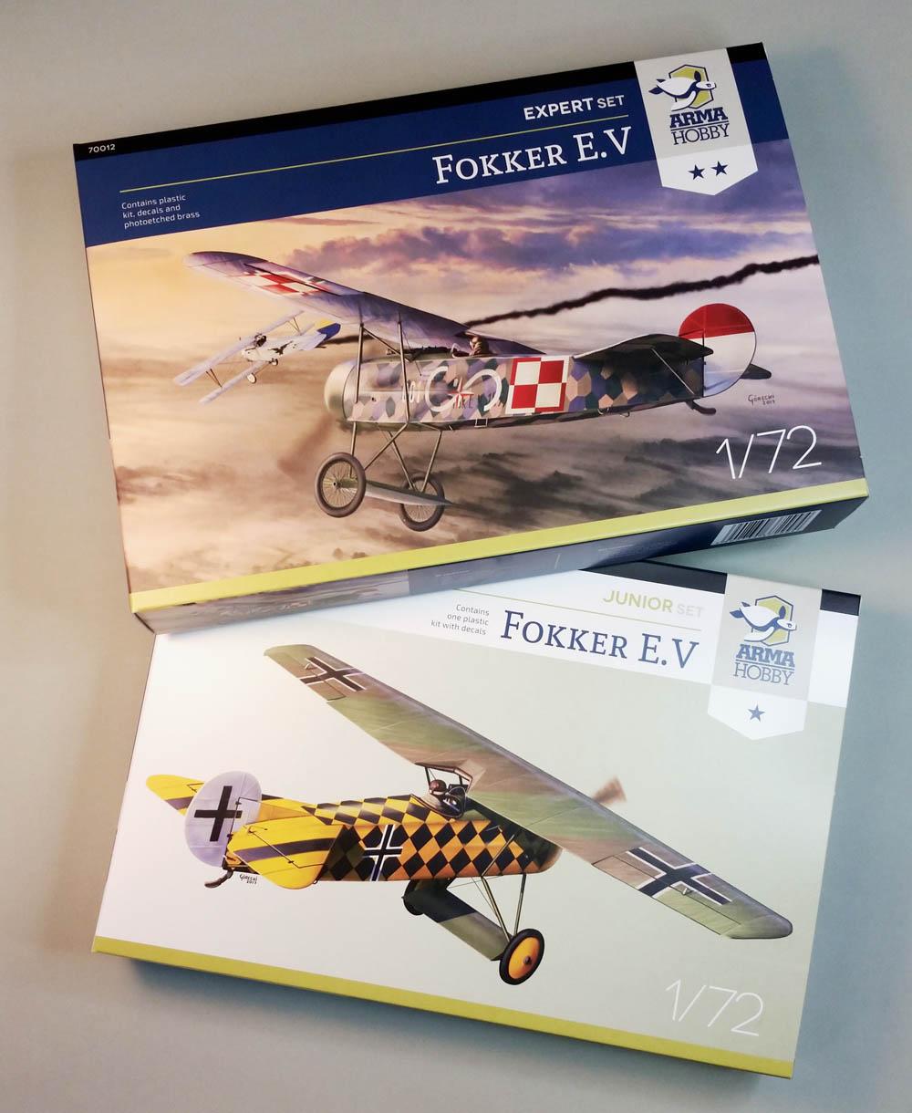 Modele Fokker E.V – co jest w pudełku – inbox