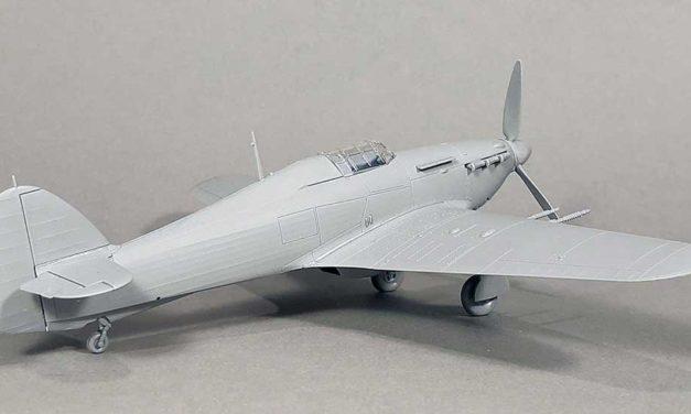 Hurricane IIc – model sklejony z próbnych wtrysków