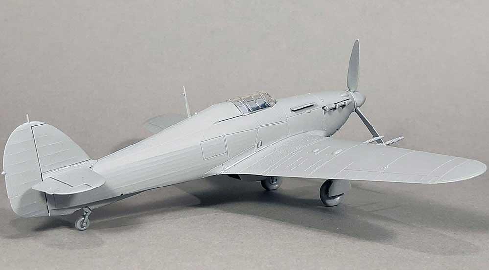 Hurricane IIc – model built from test shots
