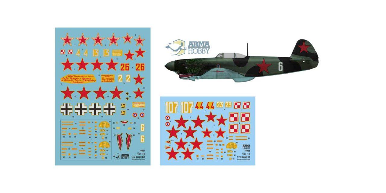 Modele Jak-1b  – kalkomanie i wersje malowania