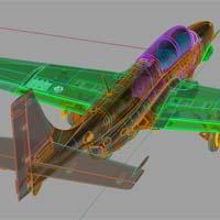 Model plastikowy TS-11 Iskra – renderingi podziału części